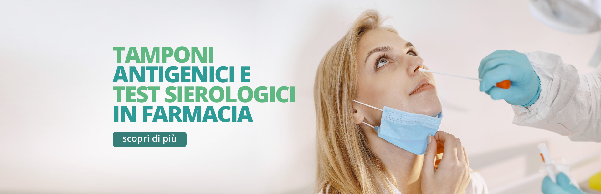 Tamponi antigenici e test sierologico in Farmacia