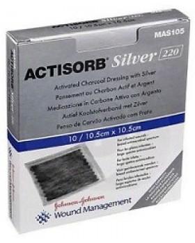 ACTISORB SILVER MEDICAZIONE IN CARBONE ATTIVO CON ARGENTO 10 ,5X10,5 CM 3 PEZZI