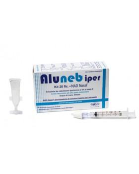 ALUNEB KIT SOLUZIONE IPERTONICA 3% 20 FLACONCINI + MAD NASAL ATOMIZZATORE