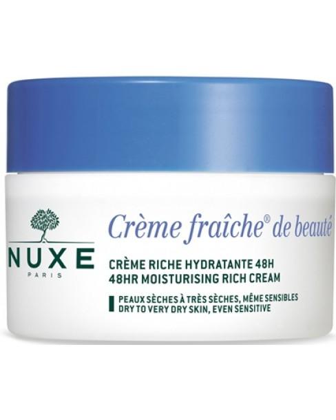 NUXE CREME FRAICHE DE BEAUTE RICHE CREME NOURISSANTE HYDRATA NTE 48 H 50 ML