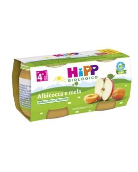 HIPP BIO OMOGENEIZZATO ALBICOCCA MELA 100% 2X80 G
