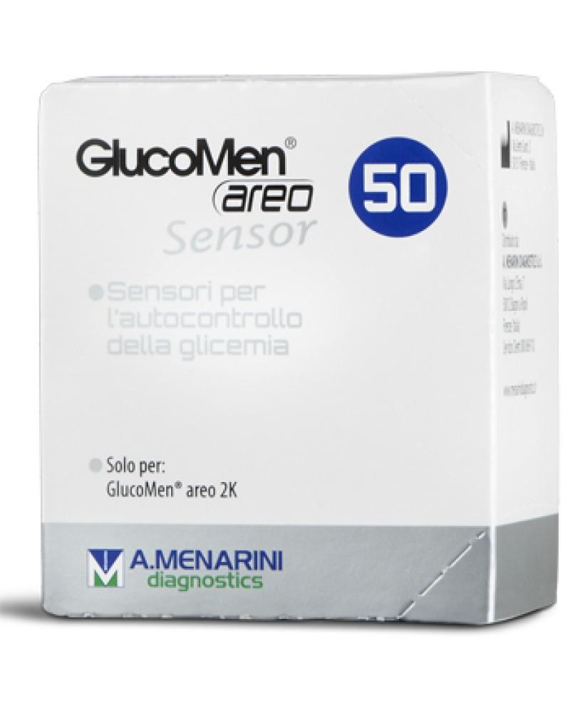 Strisce Glucomen Areo Sensor Per Analisi Del Glucosio 50 Pez Zi