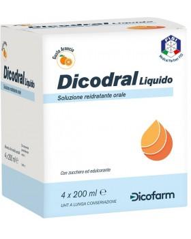 DICODRAL LIQUIDO SOLUZIONE REIDRATANTE ORALE 4 X 200 ML