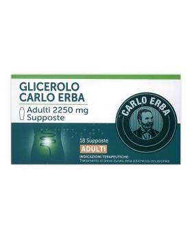 GLICEROLO (CARLO ERBA)*AD 18 supp 2.250 mg