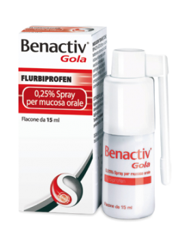 BENACTIV GOLA*spray mucosa os 15 ml 0,25%