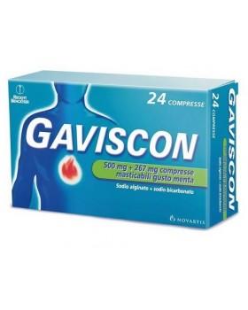 GAVISCON*24 cpr mast 500 mg + 267 mg menta