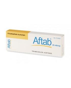 AFTAB*10 cpr adesive bucc 0,025 mg