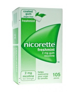 NICORETTE*105 gomme mast 2 mg menta forte