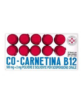 COCARNETINA B12*os sosp 10 flaconcini 10 ml 500 mg + 2 mg