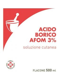 ACIDO BORICO (AFOM)*soluz u.e. 500 ml 3%