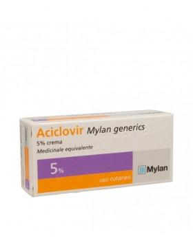 ACICLOVIR (MYLAN GENERICS)*crema derm 3 g 5%