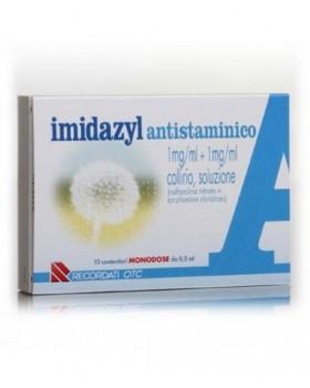 IMIDAZYL ANTISTAMINICO*10 monod collirio 0,5 ml 1 mg/ml + 1 mg/ml