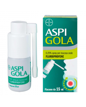 ASPI GOLA*spray mucosa os 15 ml 0,25%